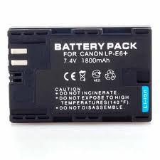 Canon LP-E6 1800mAh utángyártott akkumulátor